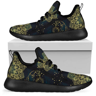Limited Time 60% Gold Mandala Sun and Moon Mesh-Knit Handcrafted Sneakers
