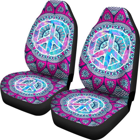 Peace Hippie Car Seat Covers