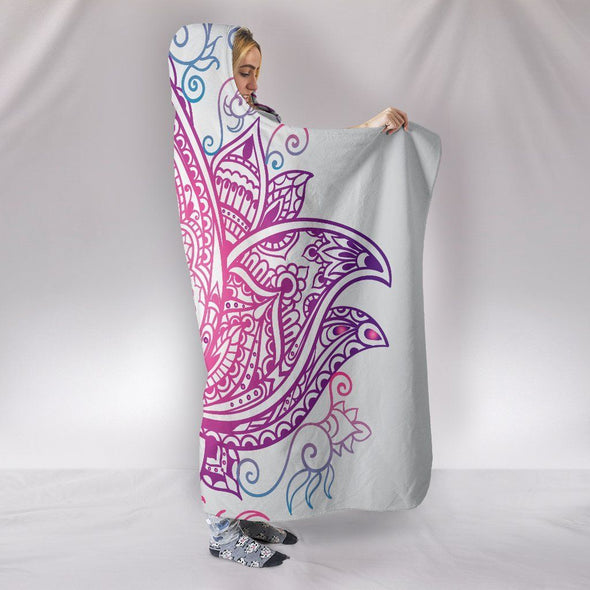 Glorious Lotus Mandala Hooded Blanket