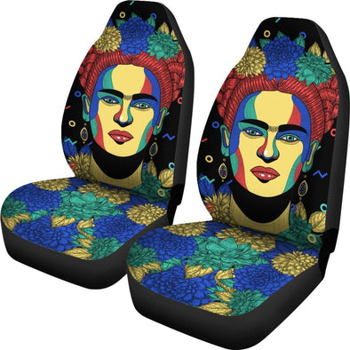 Frida Kahlo Pastel Car Seat Covers