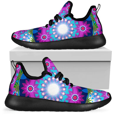 Limited Time 60% Pink Floral Fractal Mesh-Knit Handcrafted Sneakers