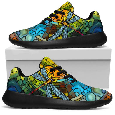 HandCrafted Stain Glass Dragonfly Sport Sneaker