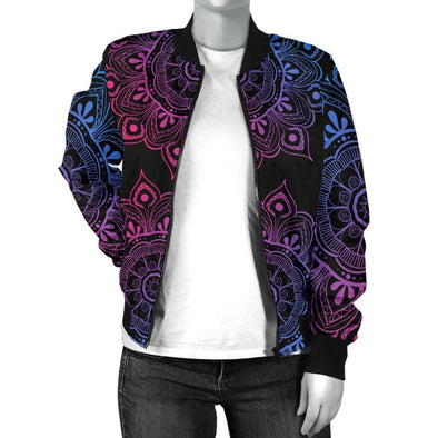 Clearance Lotus Mandala Bomber Jacket