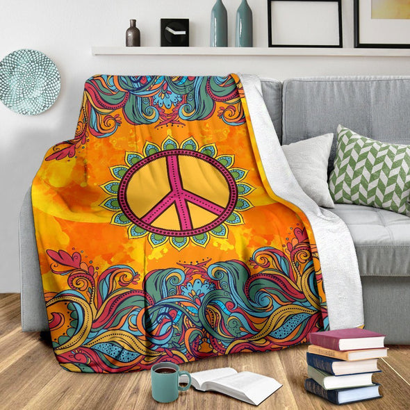 Vibrant Colors Peace Blanket