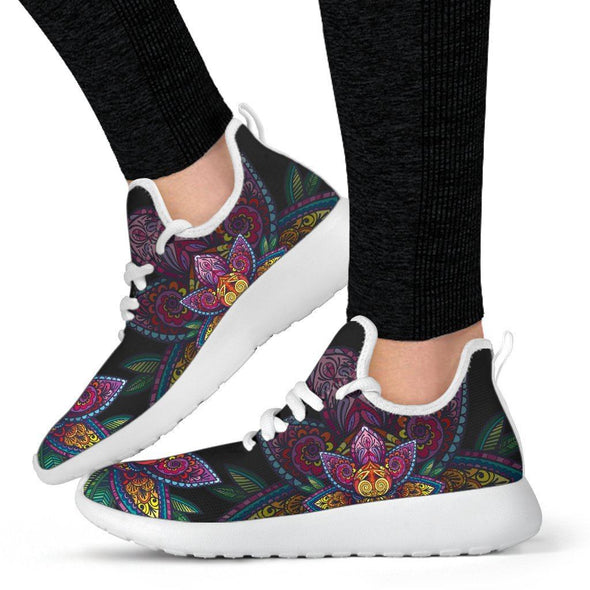 Limited Time 60% Colorful Lotus Mesh-Knit Handcrafted Sneakers