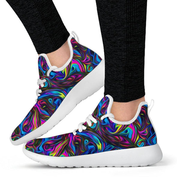 Limited Time 60% Psychedelic Art Mesh Knit Handcrafted Sneakers