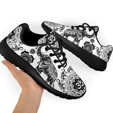 Elephant Mandala Handcrafted Sport Sneakers
