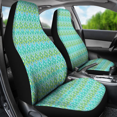 Boho Green Blue Pattern Car Seat Covers