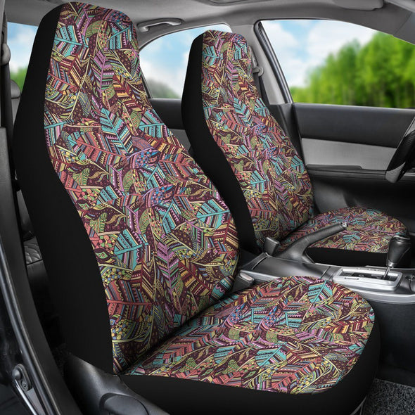 Boho Indian Feathers Car Seat Covers