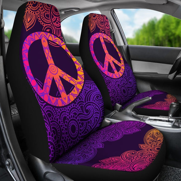 Colorful Peace Mandala Car Seat Covers