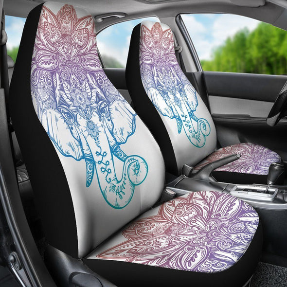Colorful Mandala Elephant Seat Covers