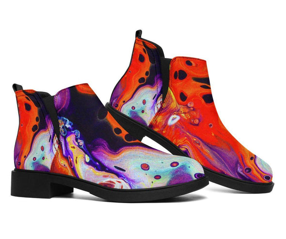 HandCrafted Colorful Abstract Booties