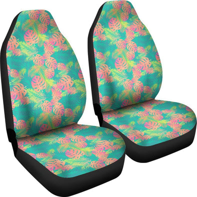 Boho Exotic Leaves Car Seat Covers