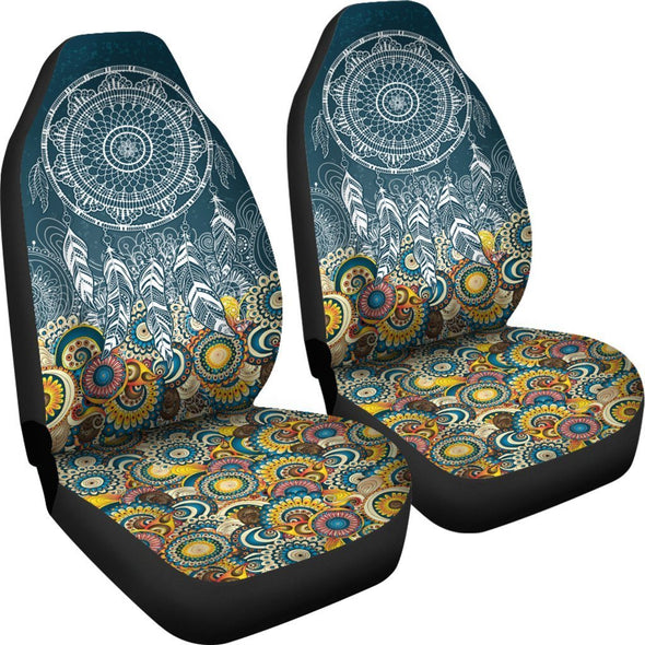Dream Catcher Fractal Car Seat Covers