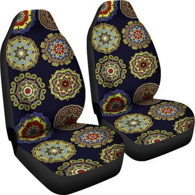Premium Artistic Design Mandala Flowers Car Seat Covers