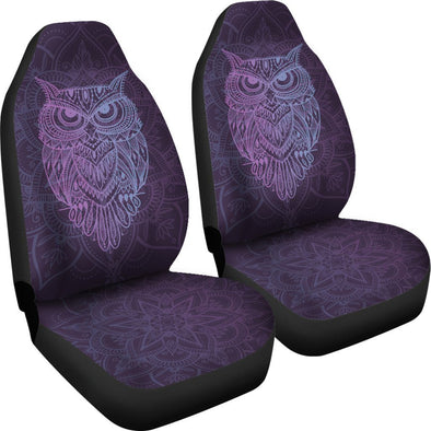 Purple Owl Car Seat Covers