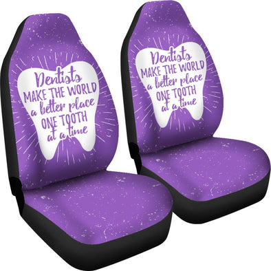 Dental Purple Car Seat Covers