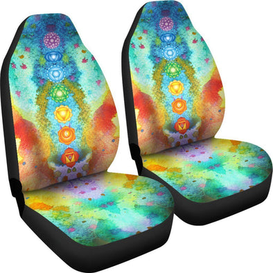 Rainbow Chakra Car Seat Covers