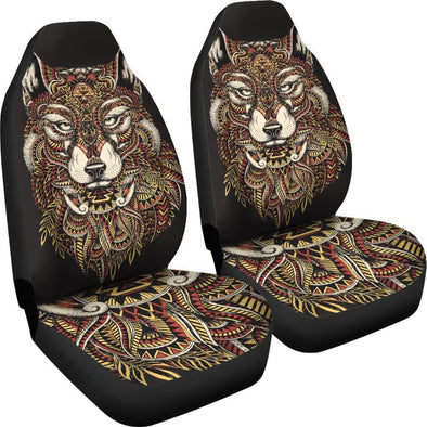 Abstract Wolf Car Seat Covers