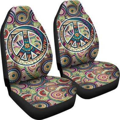 Peace Fractal Swirls Car Seat Cover