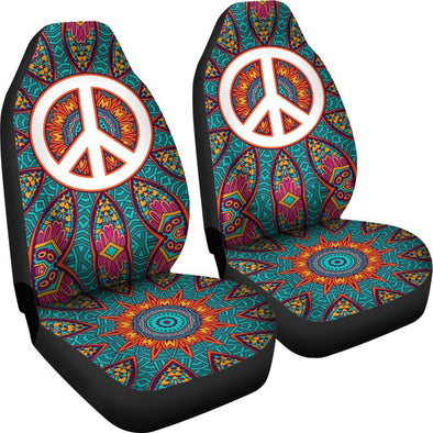Colorful Peace Fractal Car Seat Covers
