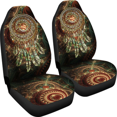 Premium Feathered Dream Catcher Car Seat Covers