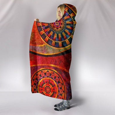 Colorful Mandala Hooded Blanket