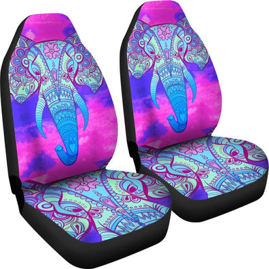 Purple Pink Mandala Elephant Head Car Seat Covers