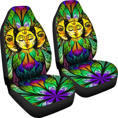 Colorful Sun Moon Car Seat Covers