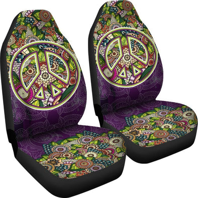 Premium Purple Peace Mandala Seat Cover
