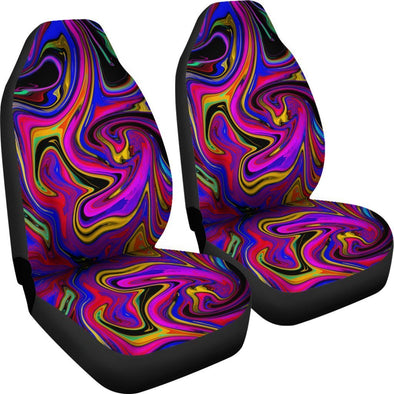 Premium Colorful Psychedelic Abstract Car Seat Covers
