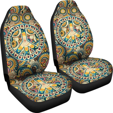 Premium Peace and Fractal Mandala Car Seat Covers