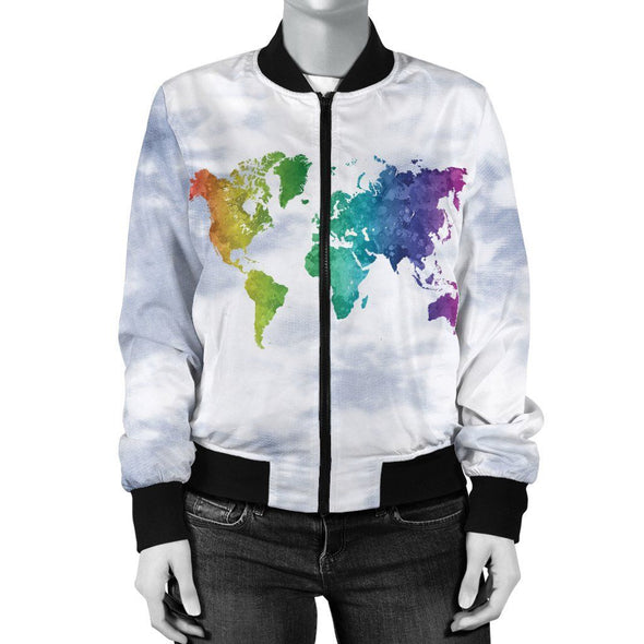 World Map 1 Bomber Jacket