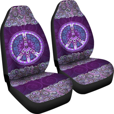 Purple Peace Mandala Car Seat Covers