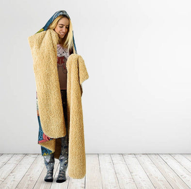 Boho Abstract Hooded Blanket