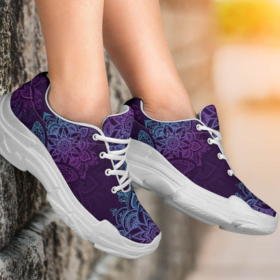 Artistic Butterfly Handcrafted Chunky Sneakers