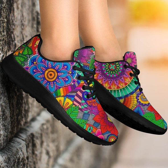 Colorful Mandala HandCrafted Sport Sneakers