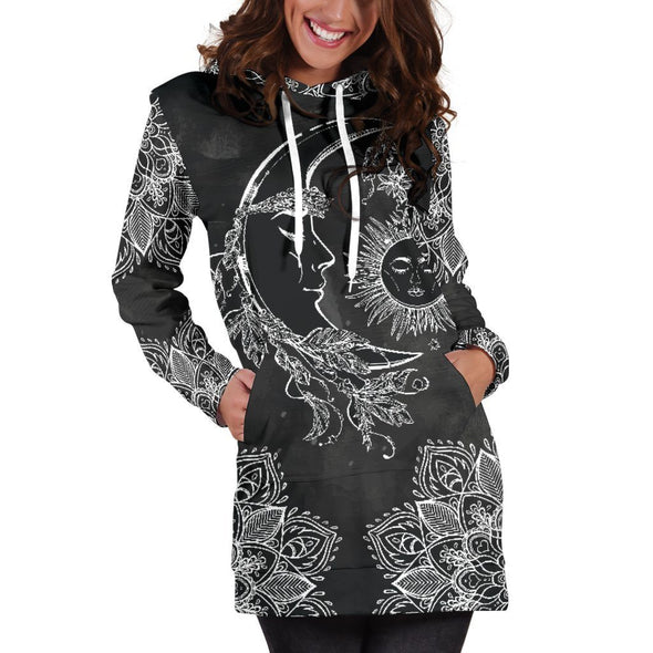 Sun & Moon 2 Hooded Dress