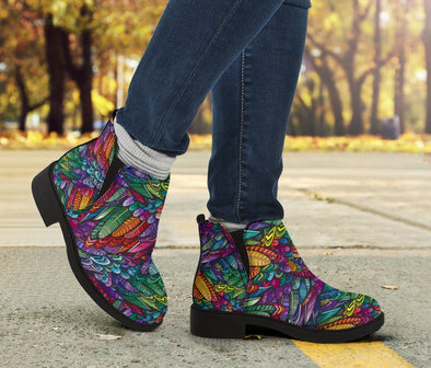 HandCrafted Boho Feathers Booties