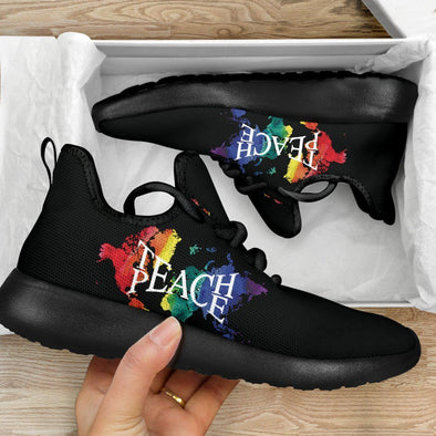 Limited Time 60% Multi-color Teach Peace Mesh-Knit Handcrafted Sneakers