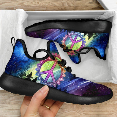 Limited Time 60% Artistic Midnight Peace Mesh Knit Handcrafted Sneakers