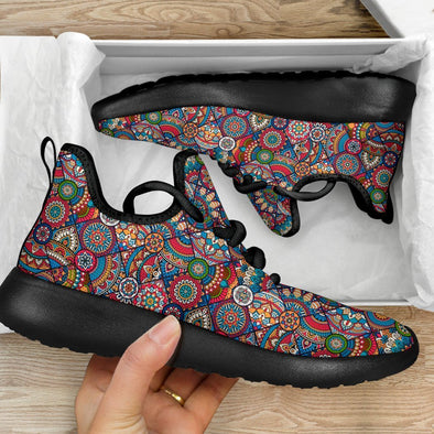Limited Time 60% Multi-color Mandala Aztec Mesh-Knit Handcrafted Sneakers