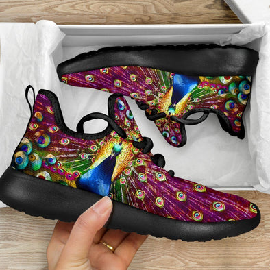 Limited Time 60% Colorful Peacock Mesh Handcrafted Sneakers