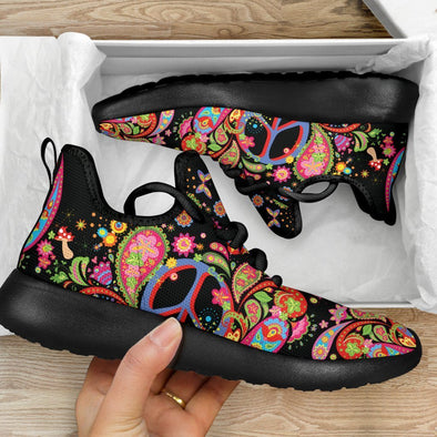 Limited Time 60% Paisley Peace Boho Mesh-Knit Handcrafted Sneakers