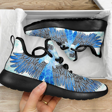 Limited Time 60% Watercolor Feathered Mesh Handcrafted Sneakers