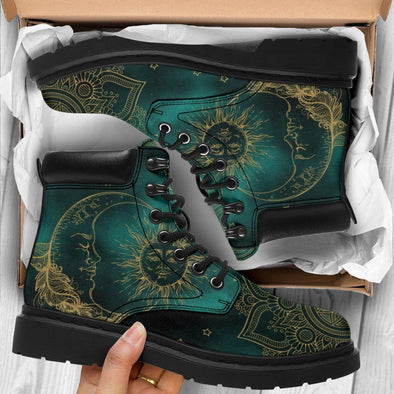 HanCrafted Green Sun and Moon Performance Boots