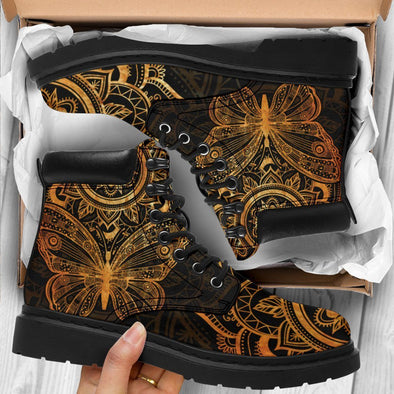HandCrafted Gold Butterfly Performance Boots