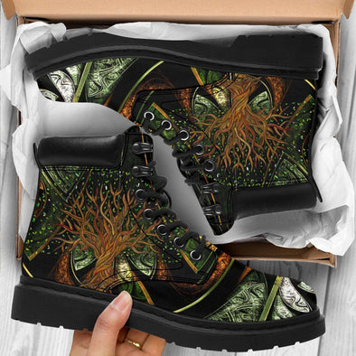 HandCrafted Fractal Tree of Life Performance Boots
