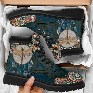HandCrafted Paisley Dragonfly Performance Boots