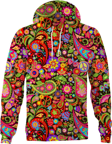 HandCrafted Colorful Peace Mandala Hoodie